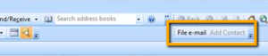Sage CRM plugin buttons in Outlook